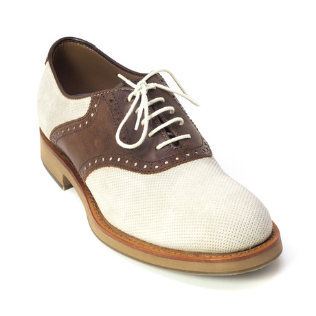 Enzo Dress Shoes // Brown, White (Euro: 39)