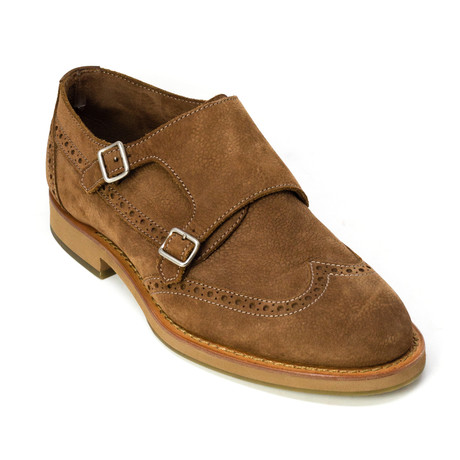 Clyde Monk Strap Shoes // Brown (Euro: 39)