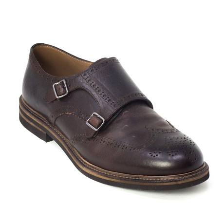 Silvio Monk Strap Shoes // Brown (Euro: 39)