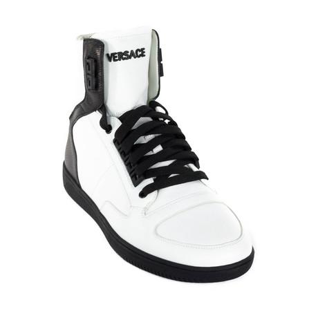 High-Top Sneakers // White + Black (Euro: 38)