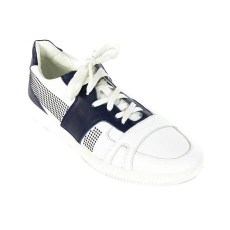 Sneakers // White + Navy (Euro: 38)