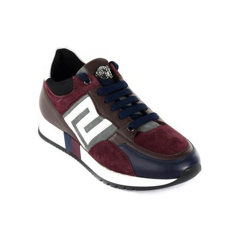 Sneakers // Navy + Burgundy + Brown (Euro: 38)