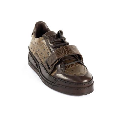 Platform Sneakers // Brown (Euro: 38)