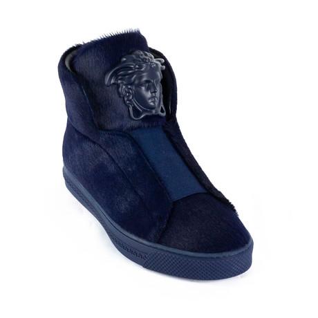 Calf Hair Sneakers // Navy (Euro: 38)