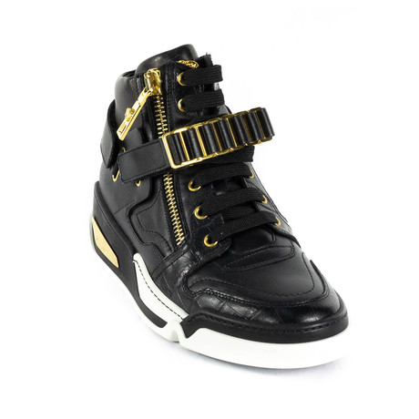 High-Top Sneakers // Black + Gold (Euro: 38)