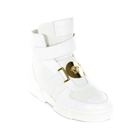 High-Top Sneakers // White (Euro: 38)
