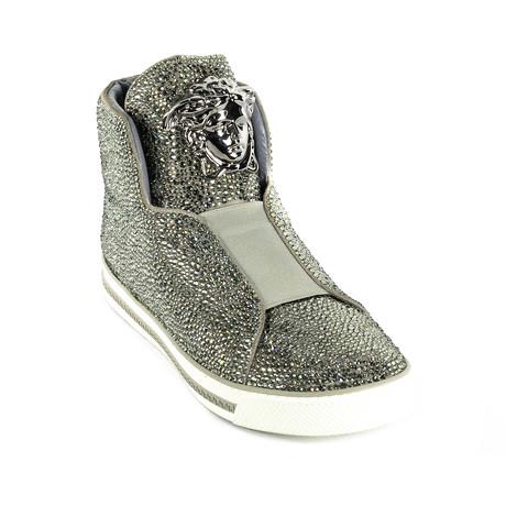 Glitter Sneakers // Silver (Euro: 38)