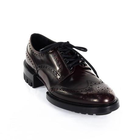 Wing-Tip Dress Shoes V1 // Burgundy (Euro: 38)