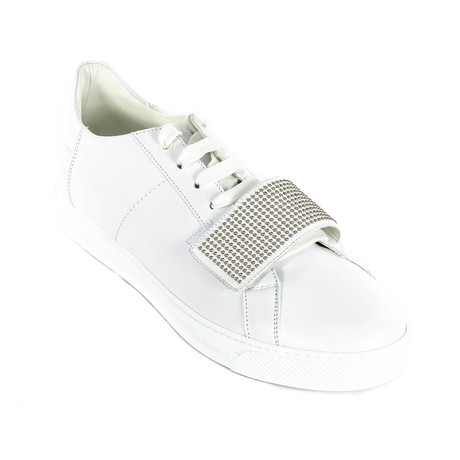 Studded Sneakers // White (Euro: 38)