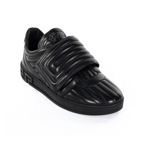 Quilted Velcro Sneakers // Black (Euro: 38)