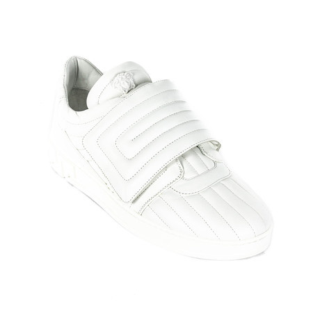 Quilted Velcro Sneakers // White (Euro: 38)