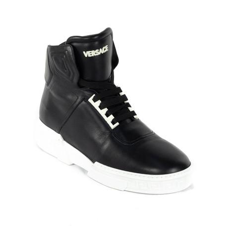 High-Top Sneakers // Black + White (Euro: 38)