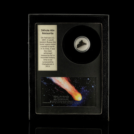 Sikhote-Alin Meteorite in Collectors Box