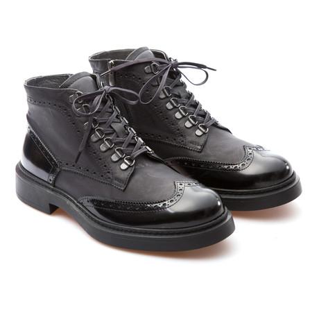 Drake Wingtip Brogue Boot // Black (Euro: 39)
