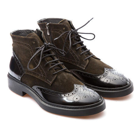 Dustin Wingtip Brogue Boot // Brown (Euro: 39)