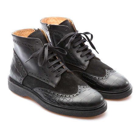 Fabian Wingtip Brogue Boot // Black (Euro: 39)