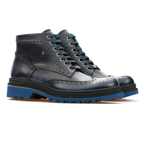 Leonard Brogue Boot // Dark Blue (Euro: 39)