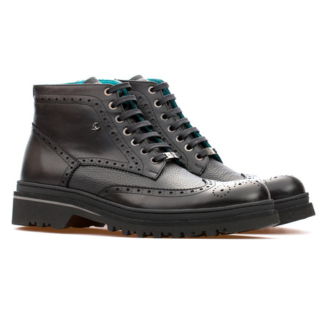 Leonard Brogue Boot // Black (Euro: 39)