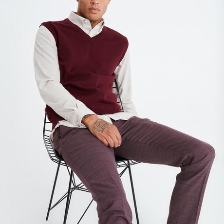 Alex Sweater Vest // Bordeaux (S)