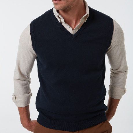Alex Sweater Vest // Navy (S)