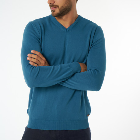 Jimmy Sanders // Zolia Sweater // Petrol Blue (S)