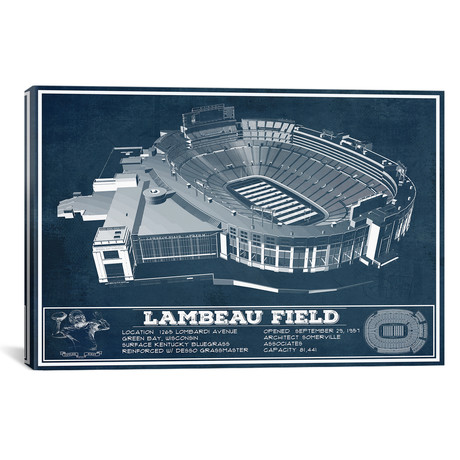 "Green Bay Lambeau Field I (12""W x 18""H x 0.75""D)"