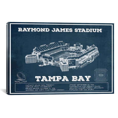 "Tampa Bay Raymond James Stadium (12""W x 18""H x 0.75""D)"