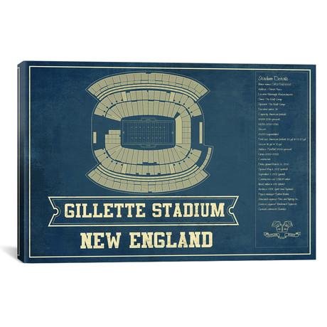 "New England Gillette Stadium II (12""W x 18""H x 0.75""D)"