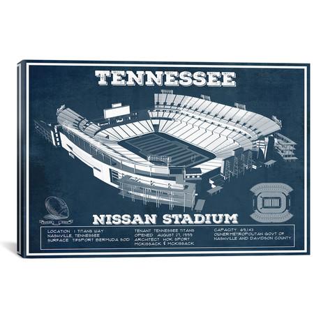 """Tennessee Nissan Stadium (12""""W x 18""""H x 0.75""""D)"""
