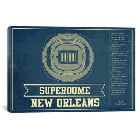 "New Orleans Mercedes Benz Superdome (12""W x 18""H x 0.75""D)"