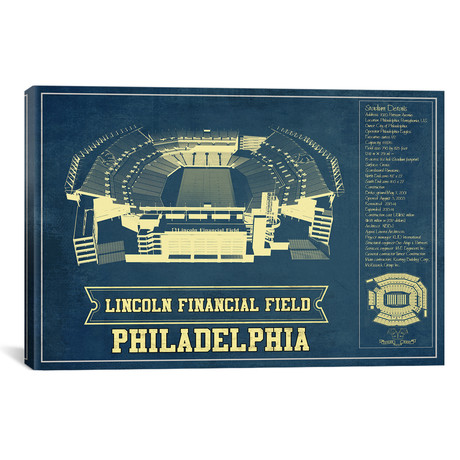 "Philadelphia Lincoln Financial Field (12""W x 18""H x 0.75""D)"