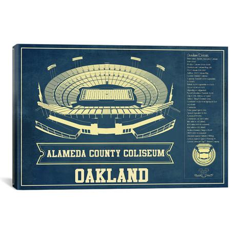 "Oakland Alameda County Coliseum I (12""W x 18""H x 0.75""D)"