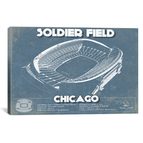 "Chicago Soldier Field (12""W x 18""H x 0.75""D)"