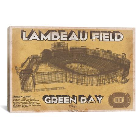 """Green Bay Lambeau Field II (12""""W x 18""""H x 0.75""""D)"""