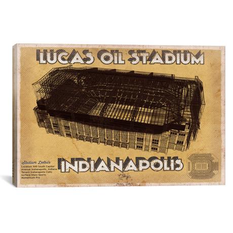 """Indianapolis Lucas Oil Stadium (12""""W x 18""""H x 0.75""""D)"""