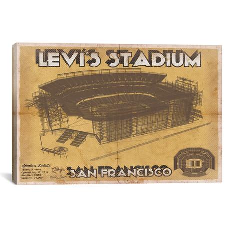 "San Francisco Levi's Stadium (12""W x 18""H x 0.75""D)"