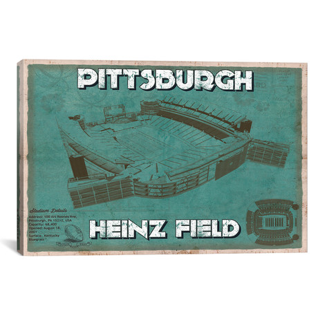 "Pittsburgh Heinz Field (12""W x 18""H x 0.75""D)"