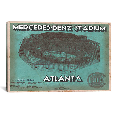 "Atlanta Mercedes Benz Stadium (12""W x 18""H x 0.75""D)"