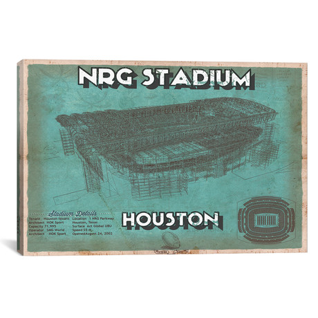 "Houston NRG Stadium (12""W x 18""H x 0.75""D)"
