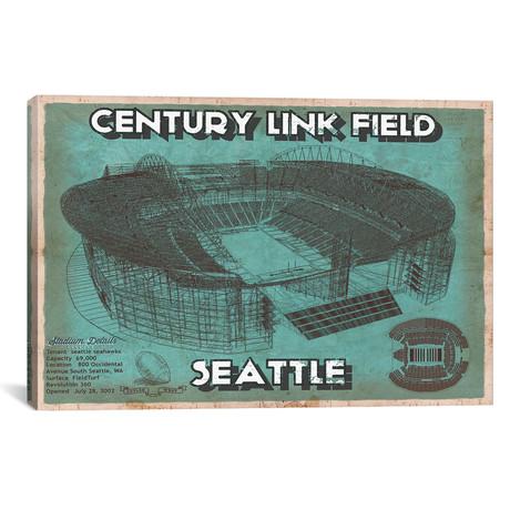 """Seattle Century Link Field (12""""W x 18""""H x 0.75""""D)"""