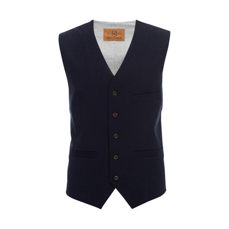 Albert Stretch Vest // Navy (XS)