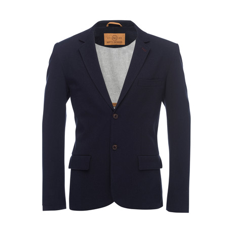 Kurt Notched Lapel Stretch Blazer // Navy (XS)
