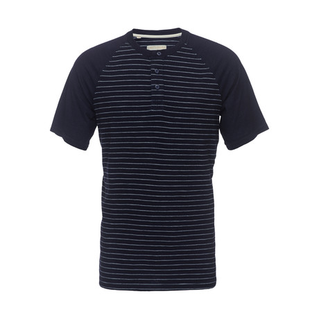 James Raglan Stripe Henley // Indigo (XS)