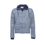 Hooded Zip Sherpa Jacket // Navy (XS)