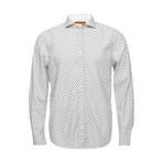 Earnest Spread Print Collar // White (XS)