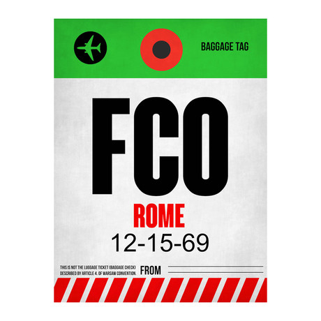 FCO Rome Luggage Tag