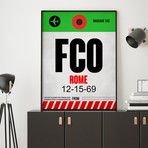FCO Rome Luggage Tag