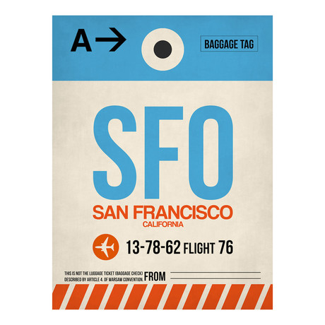 SFO San Francisco Luggage Tag