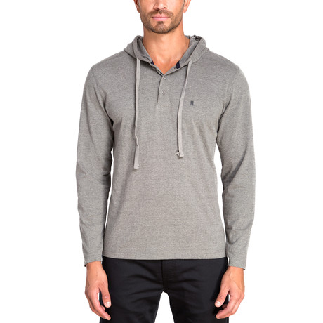 Henley Knit Hoodie // Heather Gray (S)