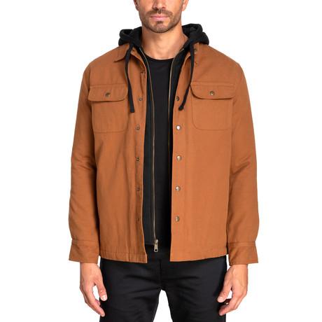 Long Sleeve Panama Canvas Shirt Jacket // Workman Brown (S)
